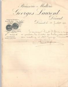 1911lettregeorgeslaurent