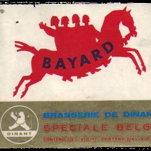 Etiquette Bayard - Brasserie de Dinant - Spéciale Belge