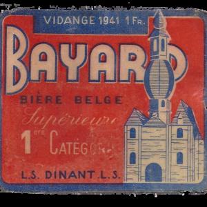 Etiquette Bayard - Bière belge Supérieure 1ère catégorie