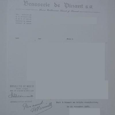 Lettre 1961 (Coll Stevenart)