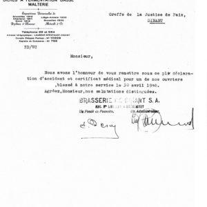 Lettre 1948, Coll M Coleau