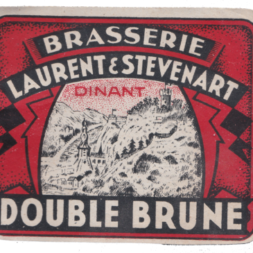 Etiquette Double Brune Laurent & Stévenart