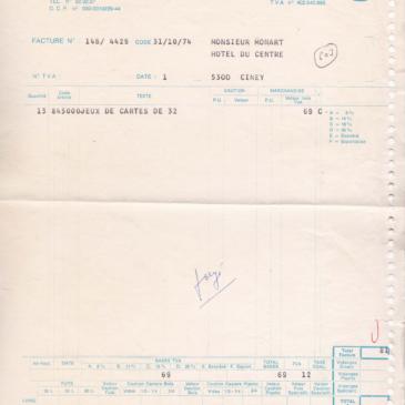 1974 Factures