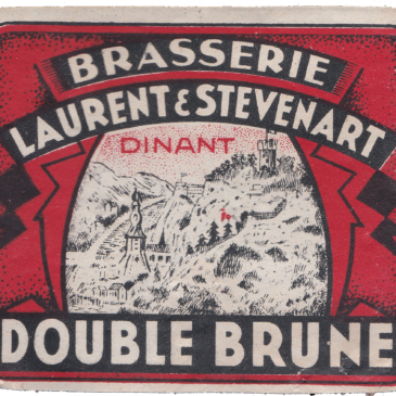 Étiquette double brune Laurent & Stévenart