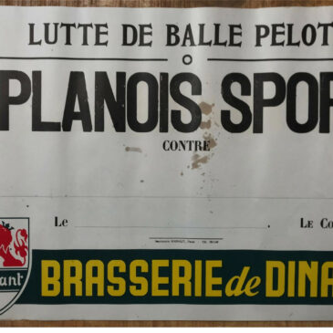 Affiche Planois Sport, balle pelote